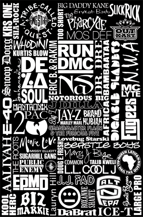 History of Rap Poster (click photo for more info from karmaloop.com - spotted via egotripland.com